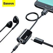 Baseus USB C Audio Cable Adapter Type C to 3.5mm Jack Earphone Fast Charger USB-C Splitter For Xiaomi Mi8 Huawei P20 Mate 10 Pro