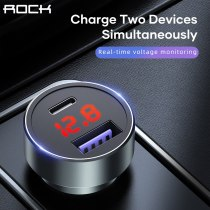 ROCK 36W Quick Charge 3.0 Car Charger for iPhone Samsung 20W Type C Car Charging for Huawei Xiaomi Mobile Phone USB Charger