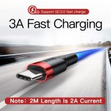 Baseus USB Type C Cable For xiaomi 10 Pro redmi 8 USB C Mobile Phone Cable Fast Charging Type C Cable for USB Type-C Devices