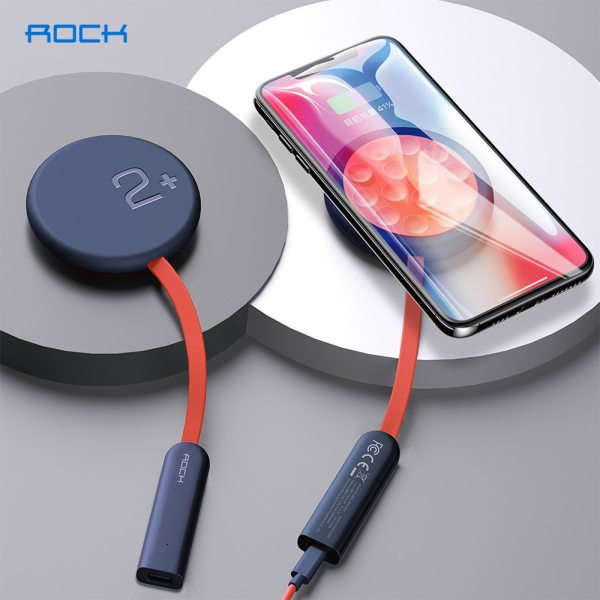 ROCK Double-side Wireless Charger Suction Cup Fast Wireless Charging Pad Indicator Light 15W Qi Charger for iPhone SE XS 12 Pro