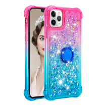 For iPhone 6S 7 8 Plus XR XS MAX 12 11 Pro Case Gradient Quicksand Stand Mobile Phone Case Anti-fall
