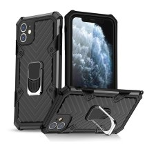 Armor Cover For iphone 12 Pro Max 5.4 6.1 6.7 inch Shockproof Magnetic Ring phone case