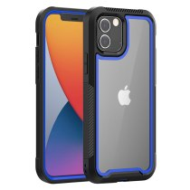 Shockproof Bumper Hybrid Armor Clear Phone Case For iPhone 12 11Pro Max XR X XS Max 6s 7 8 Plus SE 2020 PC+TPU 2 IN 1 Back Cover