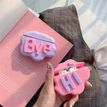 For AirPod 2 Case 3D HI BYE Cloud Letter Cartoon Soft Silicone Wireless Earphone Cases For Apple Airpods Case Cute Cover Funda