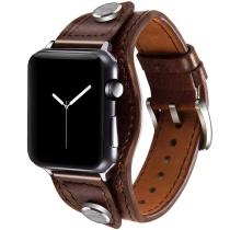 Cuff Bracelet For Apple watch series 6 se 5 4 3 Genuine Leather watchband iWatch band 42mm/38mm strap Apple watch band 40mm 44mm