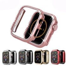 Diamond Case For Apple Watch Series 4 5 6 SE 40/44mm iWatch Screen Protective cover PC Watch Case for apple watch case 38mm/42mm