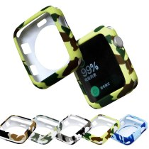 42 38mm Sports Watchband Protection Case For Apple Watch Case Soft Silicone Cover Series 3 2 1 for iWatch Accessories Camouflage