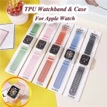 Stripe Silicone Transparent Strap for Apple Watch Band 38 40 42 44mm for Iwatch 6 SE Strap Series 2 3 4 5 6 Waterproof