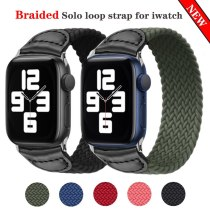 New Watchbands for Apple Watch 6 se Bands 40mm 44mm Woven Solo Loop Braided Strap Elegant for Iwatch 5/4/3 38mm 42mm Accessories