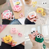 For AirPods Pro Case 3D Cute Cat Pig Duck Anime Cartoon Earphone Cover