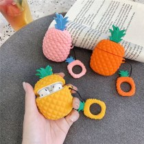 Summer Fruit Case 3D Cute Cartoon Pineapple Wireless Earphone Cover Shell for Airpods 2 Earpods Accessories
