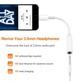 Wired Headphone Jack Lightning To 3.5mm Aux Adapter for IPhone 11 Pro Max XS XR X 12 Lighting Earphone Audio Splitter Converter