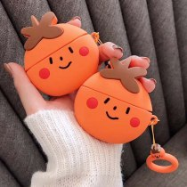 Cartoon 3D Fruit Persimmon Cute Wireless Bluetooth Earphone Cases For Apple AirPods Pro 3 Silicone Cover