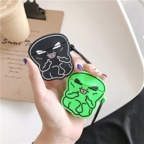 3D Cartoon hip hop alien bluetooth Headset soft Case For Apple Airpods 1 2 silicone Nice Wireless charging cover