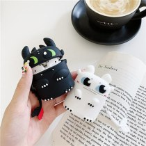 3D Black Evil Cartoon Earphone Case For Airpods Pro Silicone Cute Charging Box Protective Case For Airpods 1/2