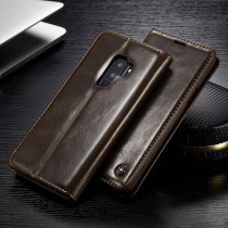 CaseMe Luxury Smooth Retro PU Leather Card Slot Stand Wallet Phone Case For Samsung S20 Ultra S10 Plus S9 S8 Plus Note 10 9