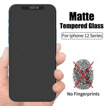Matte Frosted Tempered Glass for IPhone 12 Pro Max 12 Mini 11 XS XR X 8 7 6 6s Plus Se 2020 Anti Fingerprint Screen Protector
