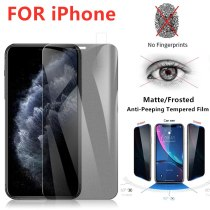 Matte Frosted Privacy Screen Protector for Iphone 12 Mini 11 Pro Max X XS MAX XR Anti-spy Tempered Glass for IPhone 6s 7 8 Plus