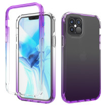 Gradient Phone Case For iPhone 11 11Pro Max Transparent Matte Glitter Back Cover For iPhone 12 Phone Case