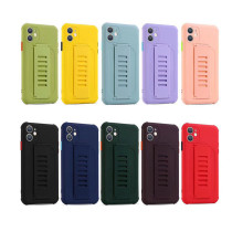 Wristband Phone Case for iPhone 12 11 Pro XS Max X XR Plus Candy Color Cover Soft Silicone Wrist Strap Shockproof Phone Case