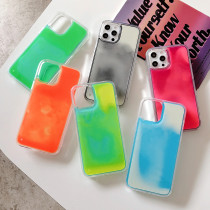 Quicksand Soft Phone Case For iPhone 12 11 Back Cover For iPhone 12Pro 11Pro Glitter Luminous Neon Sand Phone Case