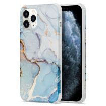 Gradient Shockproof Square Phone Case For iPhone 11 11Pro Max For iPhone 12 Soft Back Cover For Marble Texture iPhone Case