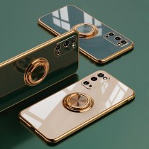 Mobile Phone Luxury Cases for Samsung Galaxy S21 Plus Ultra S20 S21 S20Plus S20Ultra Phone Ring Holder Stand Plating Soft Cover