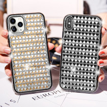 Crystal Rhinestones Bling Case For iPhone X XS Max Back Cover Girl Diamond Case For iPhone 12Mini 12 Pro Max
