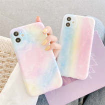 Fashion Lens Protection Soft Case for iPhone 12 11 Pro Max XR XS Max Back Cover For iPhone Rainbow Phone Case