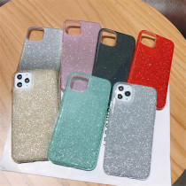 Solid Gradient Color Phone Case For iPhone 11 12 Mini Pro Max Back Cover For Bling Powder Shinning iPhone Case