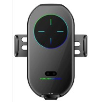 Magnetic Wireless Charger Car Mount Universal for Phones A7S Automatic Clamp Qi 10W Fast Charger for iphone12 11 forHuawei P40