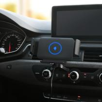 For iphone12 smart new car wireless charger Folding screen auto clip phone holder