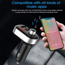 New USB car charger for fast charging QC4.0 QC 3.1A PD multi-purpose fast charging with multiple interfaces Bluetooth player