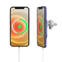 15W magnetic car charger phone holder for Magsafe iPhone 12 for 12 Pro 12 Pro Max 12 mini fast wireless charging vent installati