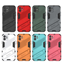 Armor Cases for iPhone 12 mini 11 Pro Max XR XS 6 7 8 Plus SE 2020 Hidden Kicksthand TPU PC Hybrid Protection Magnetic Cover
