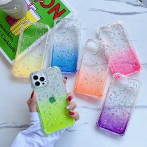 3 in 1 Shockproof Phone Case for iPhone 12 Mini SE 2020 11 Pro Max XR X 6 7 8 Plus Clear Bumper Gradient Glitter Bling Back Cover