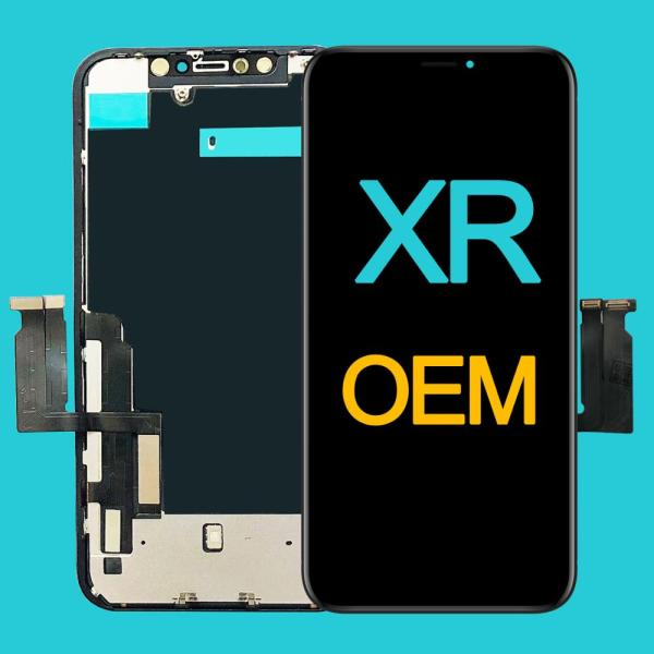 Factory Wholesale OEM New Lcd for iPhone XR Display Screen Touch With Metal Factory Display For iPhone XR Lcd touch Screen