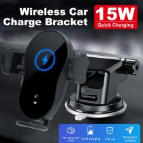 15W Wireless Car Charger Mount Auto-Clamping Qi Fast Charging Phone X Holder Air Vent Charge for iPhone Bracket