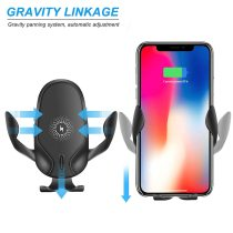 15W Quick QI Wireless Car Charger Mount Gravity Clamping Fast Charging Holder For iPhone 11 Pro Max 8 X XR XS Samsung S20 S10 S9
