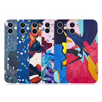 Fashion Luxury Epoxy Watercolor Couple's Soft Case For iPhone 11 12 Pro Max Mini 7 8 Plus Xr X Xs Max Se 2 Phone Cover