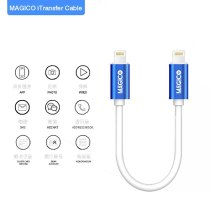 MAGICO For iPhone 8-12 Pro Max Lightning To Lightning Data Transfer Cable Data Lightning Cable Picture File Transfer Copy Data
