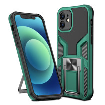 TPU PC 2 in 1 Cell Phone Case with Metal Kickstand Car Mount Shockproof Mobile Back Cover for iPhone 12 12 Pro