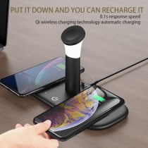 Wireless chargers Dock Station Smart night light for Samsung Xiaomi iPhone12/11/XR Apple Airpods iWatch Wireless charging