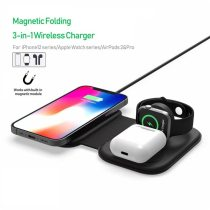 3 in 1 Wireless Charger for Magsafe iPhone 12 Pro Max 15W Folding Qi Fast Magnetic Charger for Apple AirPods Pro Watch iWatch