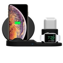 3 in 1 10W Qi Wireless Charger Dock Stand Fast Charging For iPhone 11 Pro XR XS Max 8 for Apple Watch 2 3 4 5 For AirPods Pro