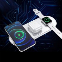 15W Wireless Charger 5 in1 Qi Fast Charging Station for iPhone 12 Pro Max Smartwatch Apple Samsung Watch Airpods Pro Stand Pad