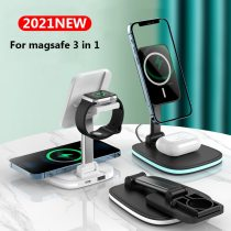 3 in 1 Collapsible Magnetic wireless charging Station For magsafe 15W Fast Charger For iPhone12 Apple Watch Airpods pro Chargers