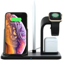 Removable 4 in 1 Wireless Charger Qi 10W Fast Charging Stand for iPhone 11 12 X XS XR Max For Apple Watch 5 4 3 2 Airpods Pro