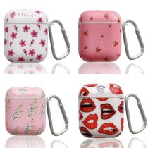 Earphone Case For AirPods 2 Bag Cute Lips Pattern Colorful Soft Tpu Smooth Protective Cover