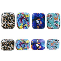 Leopard Print Clear Hard Plastic Wireless Bluetooth Earphone Cases For Apple Airpods 1 2 Pro Cover Funda Fashion